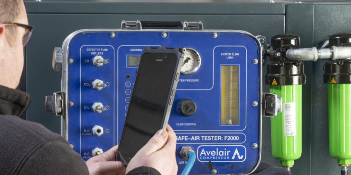 How often do I need to test my compressed air to ensure it is suitable for breathing?