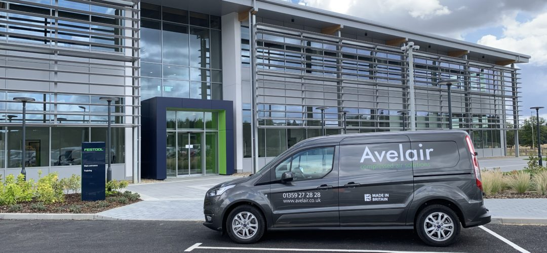 Avelair compressed air and gas solutions van at Festool in Suffolk