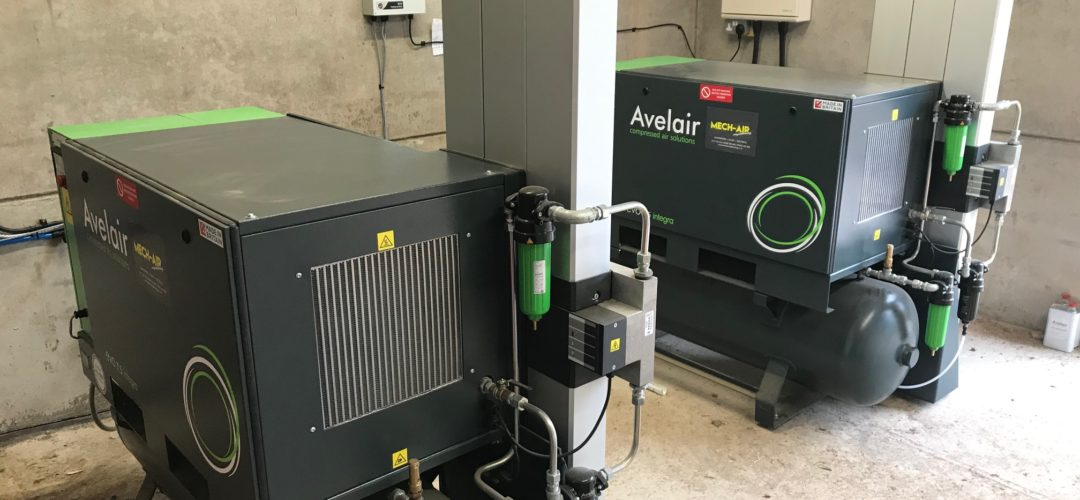 Oil free and dry compressed air for Scottish Dairy Farmers