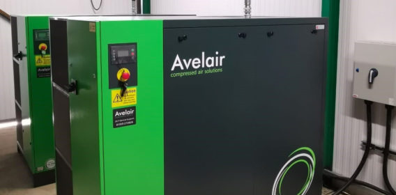 VSD air compressor installation for leading Sussex recycling business